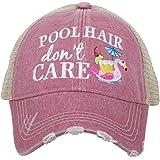c4bf4eed782c9 Amazon.com  Katydid Beach Hair Don t Care Shell Women s Trucker Hat ...