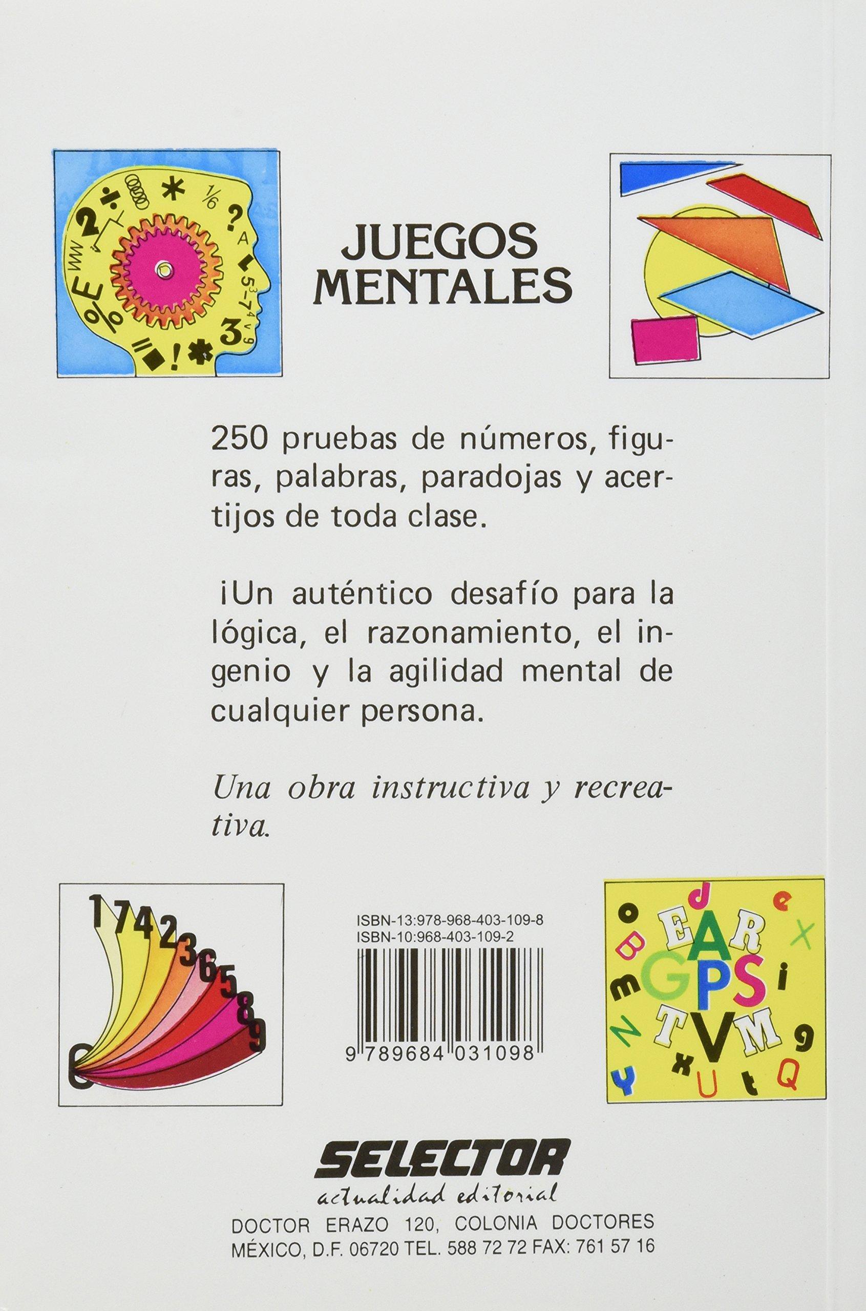 Juegos Mentales Spanish Edition Antonio Lamar 9789684031098
