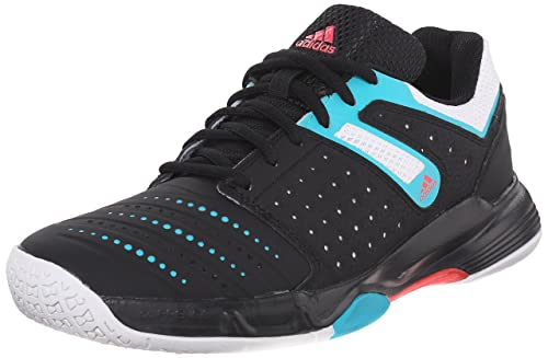 official photos 36926 395b6 Adidas Performance Womens Court Stabil 12 W Volleyball Shoe,  BlackWhiteShock Green