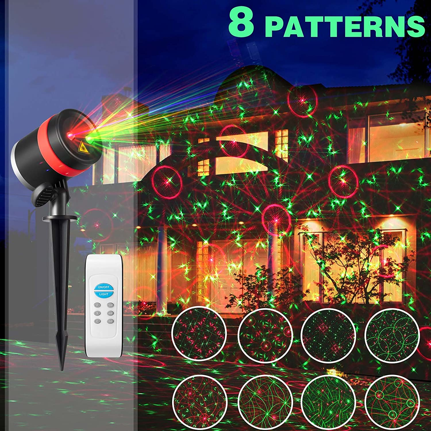 Amazon SKONYON Christmas Laser Lishts Outdoor Star Lights