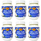 KTC 100% Pure Coconut Multipurpose Oil 500ml Jar x 6 Qty (pack of 6) - Used for Hair, Cooking, Moisturiser