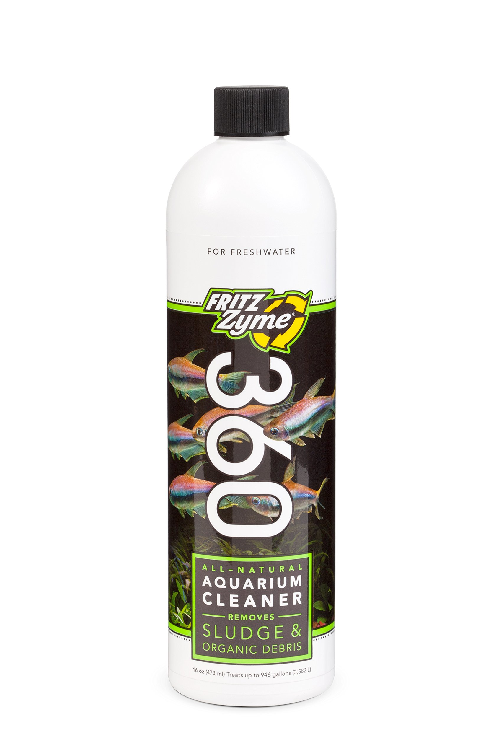Fritz Aquatics 83303 FritzZyme 360 Biological Conditioner for Fresh Water Aquariums, 16-Ounce by Fritz Aquatics