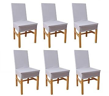 Ebeta 6 pcs fundas sillas comedor fundas elásticas, Fundas para ...