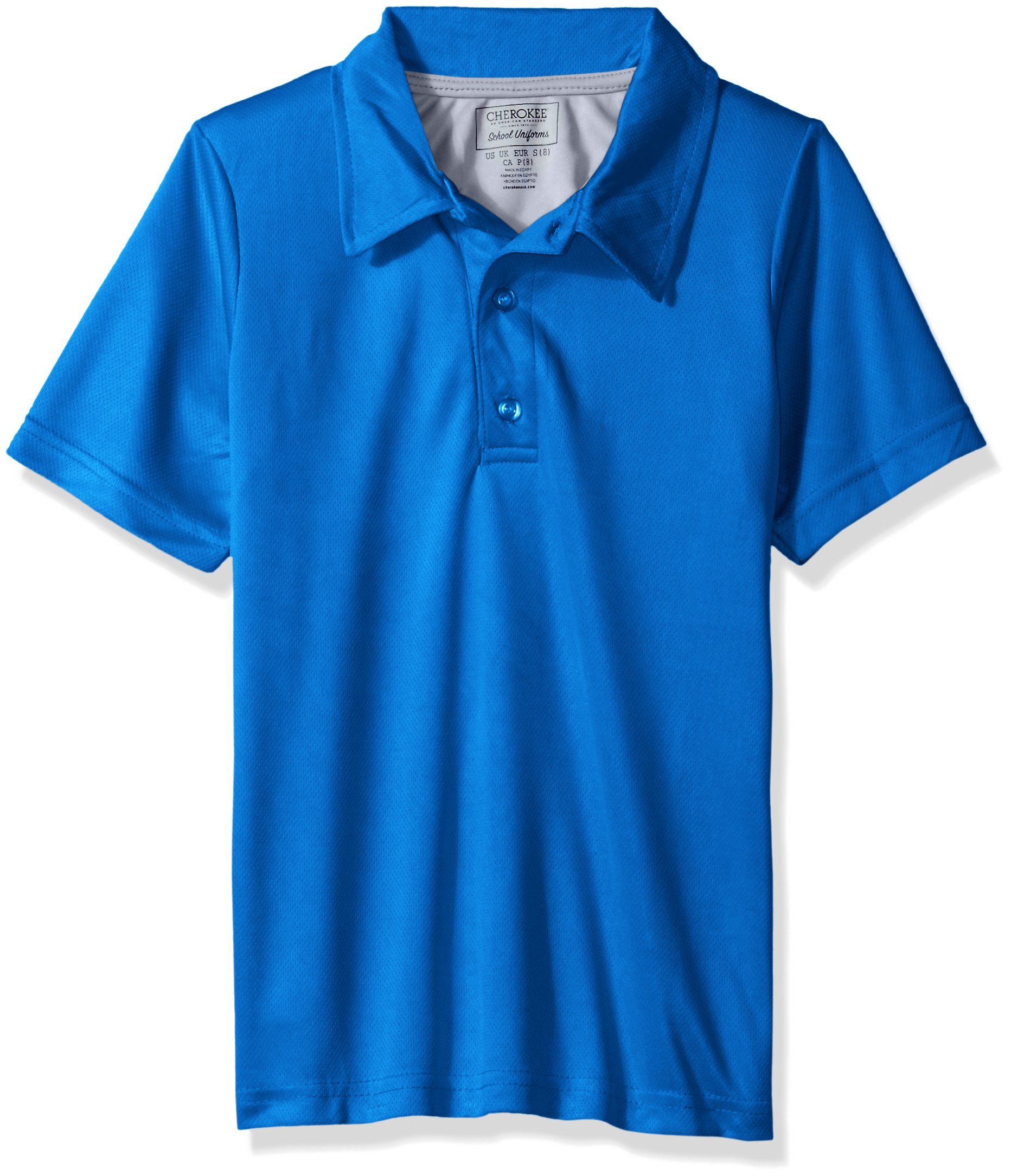 Cherokee Boys' Uniform Short Sleeve Performance Polo Shirt