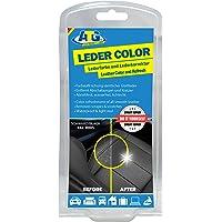 ATG ATG022 Leder-Color Lederfarbe inkl. Schwamm - beseitigt Kratzer, Abschürfungen und Abnutzungen auf Leder und Kunstleder bei jedem Autositz & jede Sitzbank – Farbe Schwarz