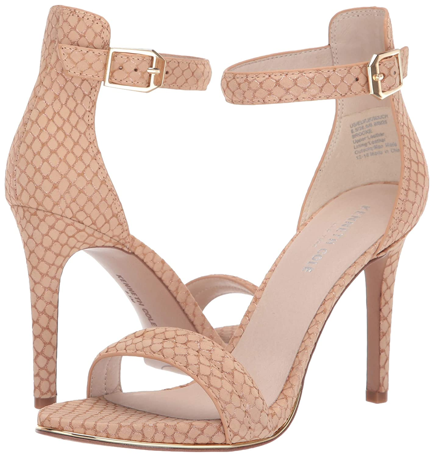61a5fcd27a09 Amazon.com  Kenneth Cole New York Women s Brooke High Heel Dress Sandal  with Ankle Strap Heeled  Shoes