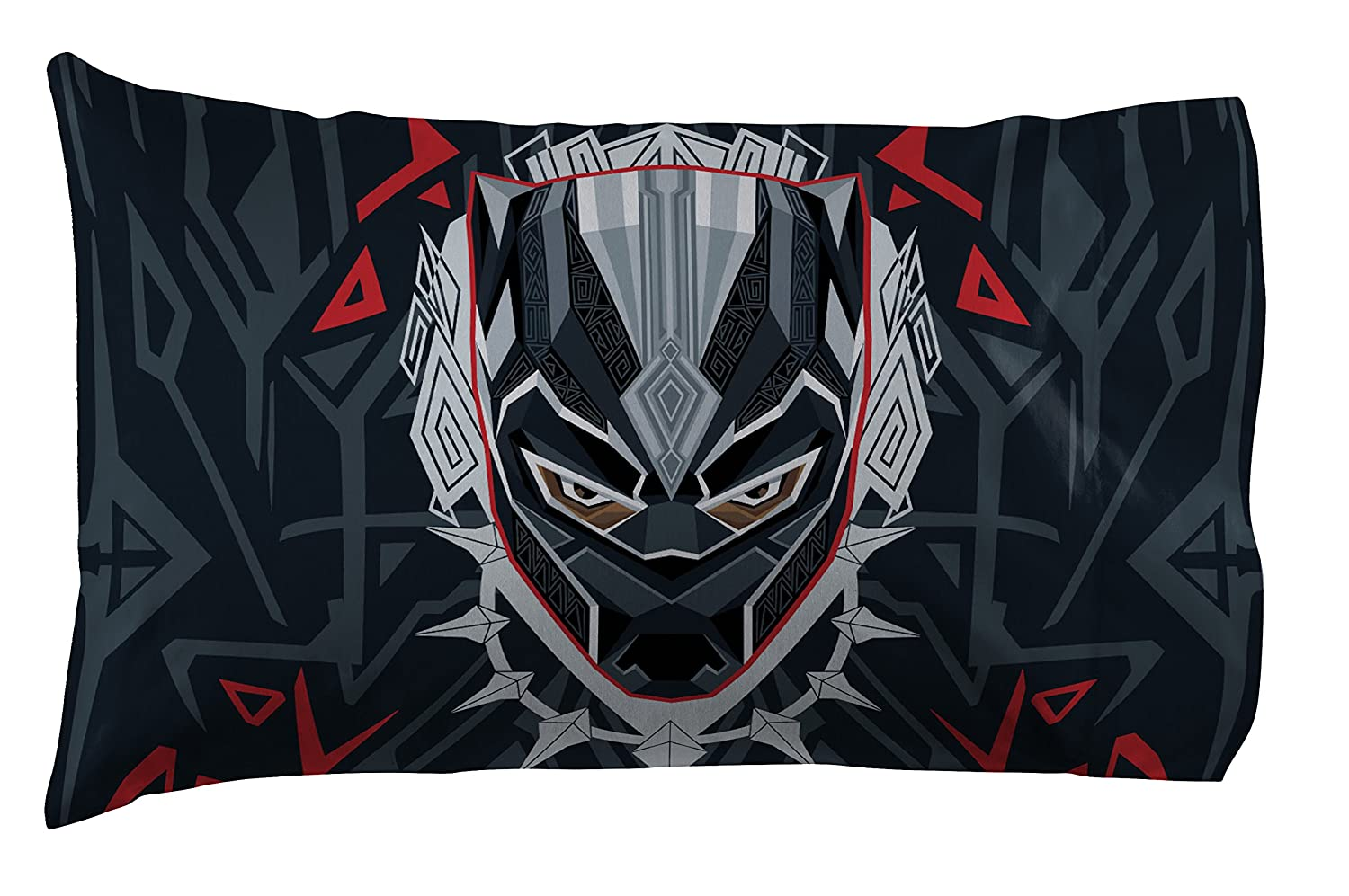 Jay Franco Marvel Black Panther 1 Pack Pillowcase - Double-Sided Kids Super Soft Bedding (Official Marvel Product) Jay Franco & Sons
