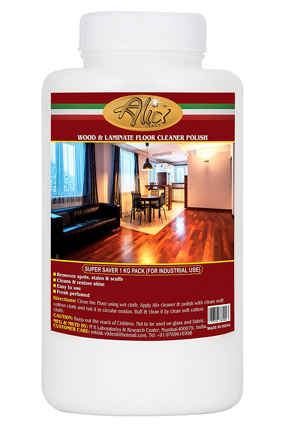 Alix Wood Laminate Floor Cleaner Polish 1000 Ml Amazon In Home Kitchen