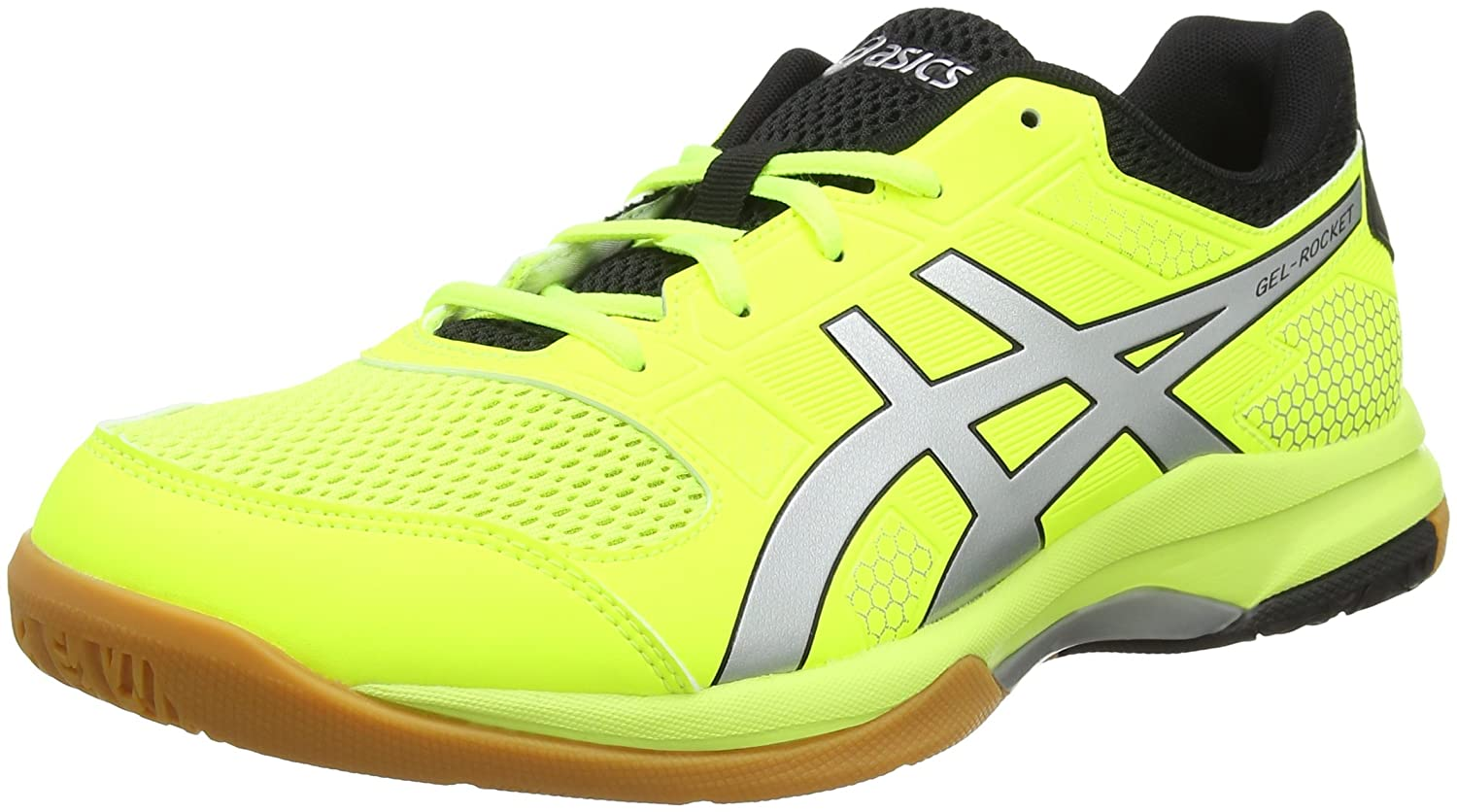 Asics Men's Gel-Rocket 8 Multisport Indoor Shoes, Yellow (Flash Yellow/Silver 750),9 UK/44 EU B706Y