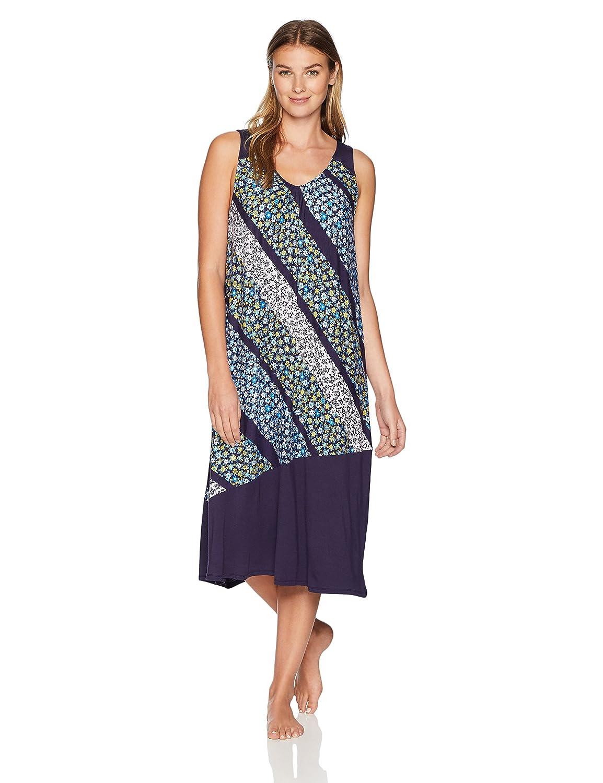 Diagonal Floral Jockey Womens Midi Nightgown Nightgown