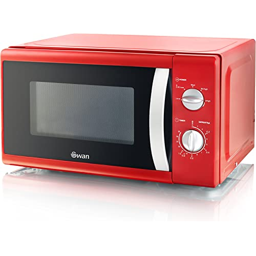 Swan Solo Red Microwave - 800 W
