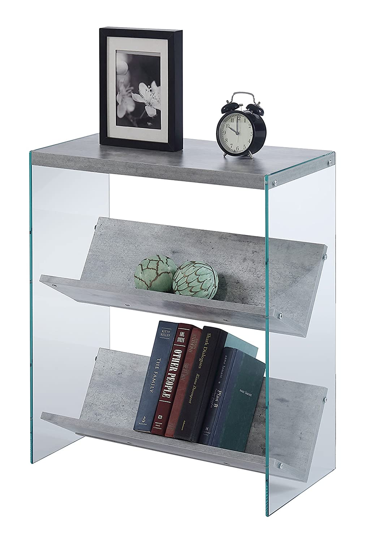 Convenience Concepts SoHo Bookcase, Faux Birch Glass