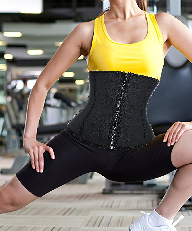 a5484da4b4 Chumian Womens Neoprene Zipper    Buckle Underbust Cincher Waist Trainer  Corset Sport Workout Body Shaper