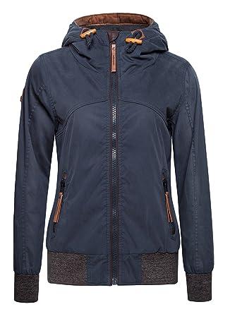612bb3eda blackmogoo Cotton Jackets for Women Windbreaker Hooded Jacket Coat