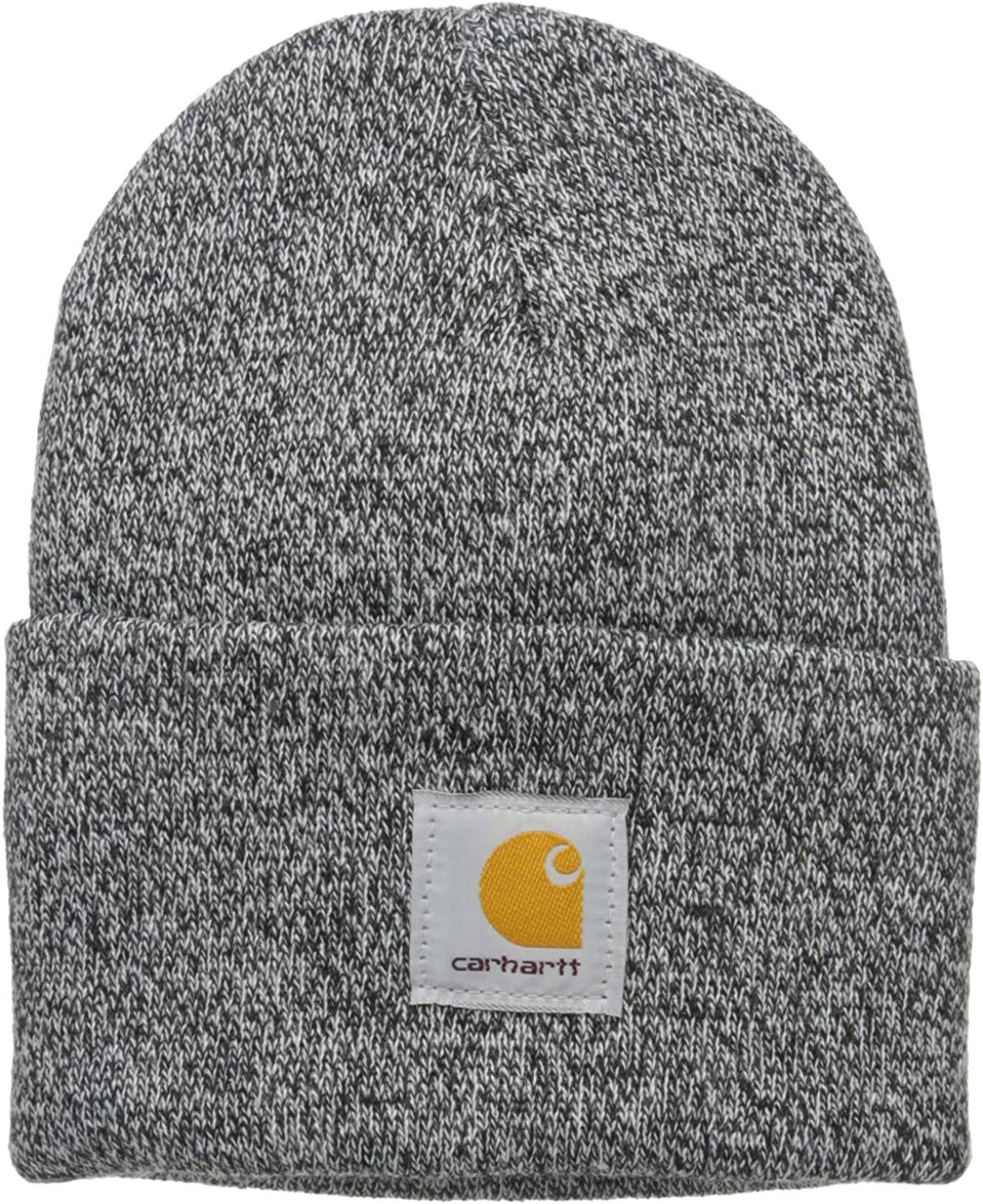 Carhartt Men's Acrylic Watch Hat A18, Black/White, One Size at  Men's Clothing store
