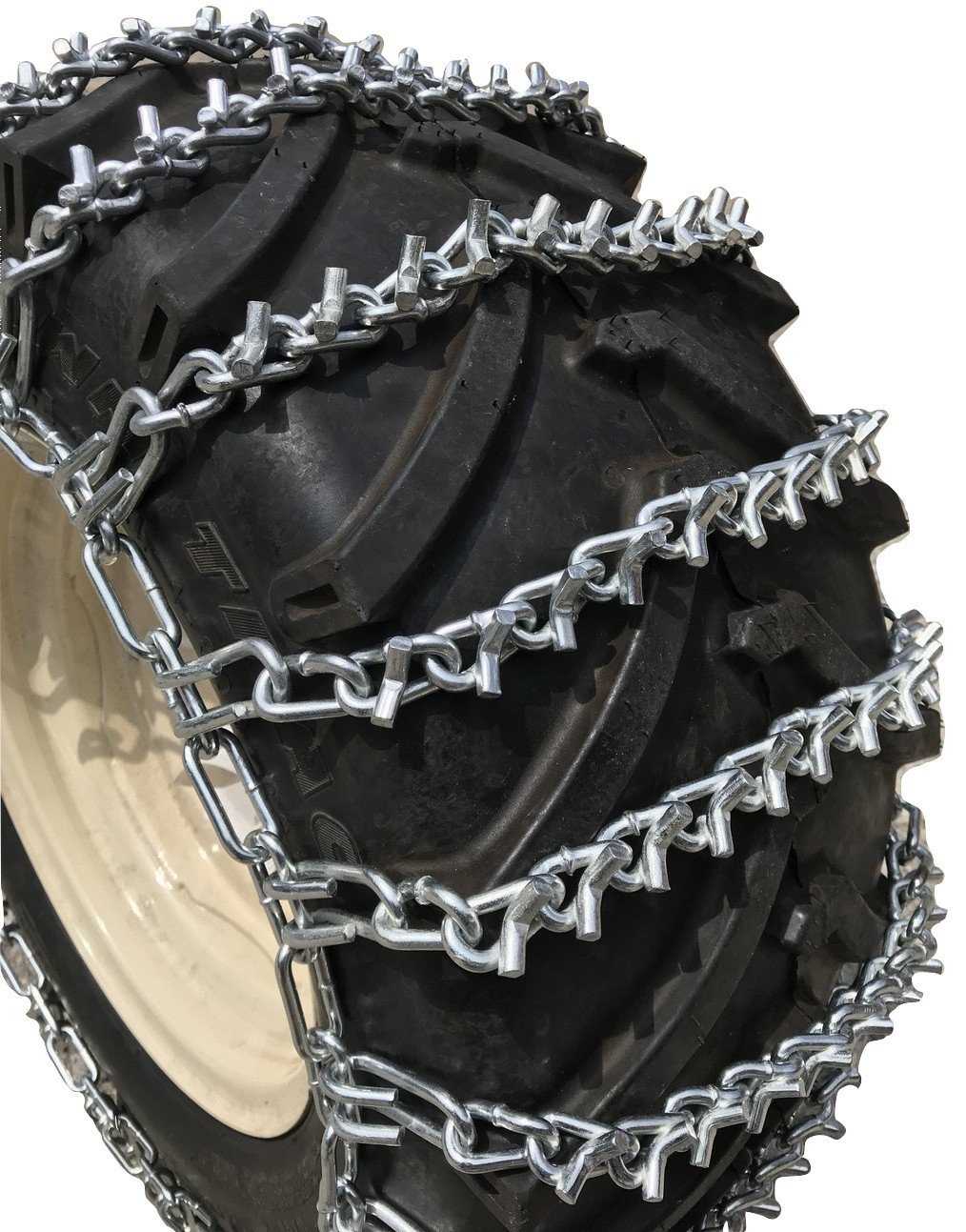 TireChain.com Heavy Duty, V Bar 2-link Lawn and Garden Tire Chains, Priced per pair. 18 X 8.50 X 8