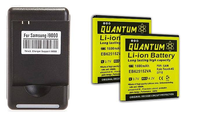 Amazon.com: 2x Baterías Quantum para Samsung Galaxy S2 Epic ...