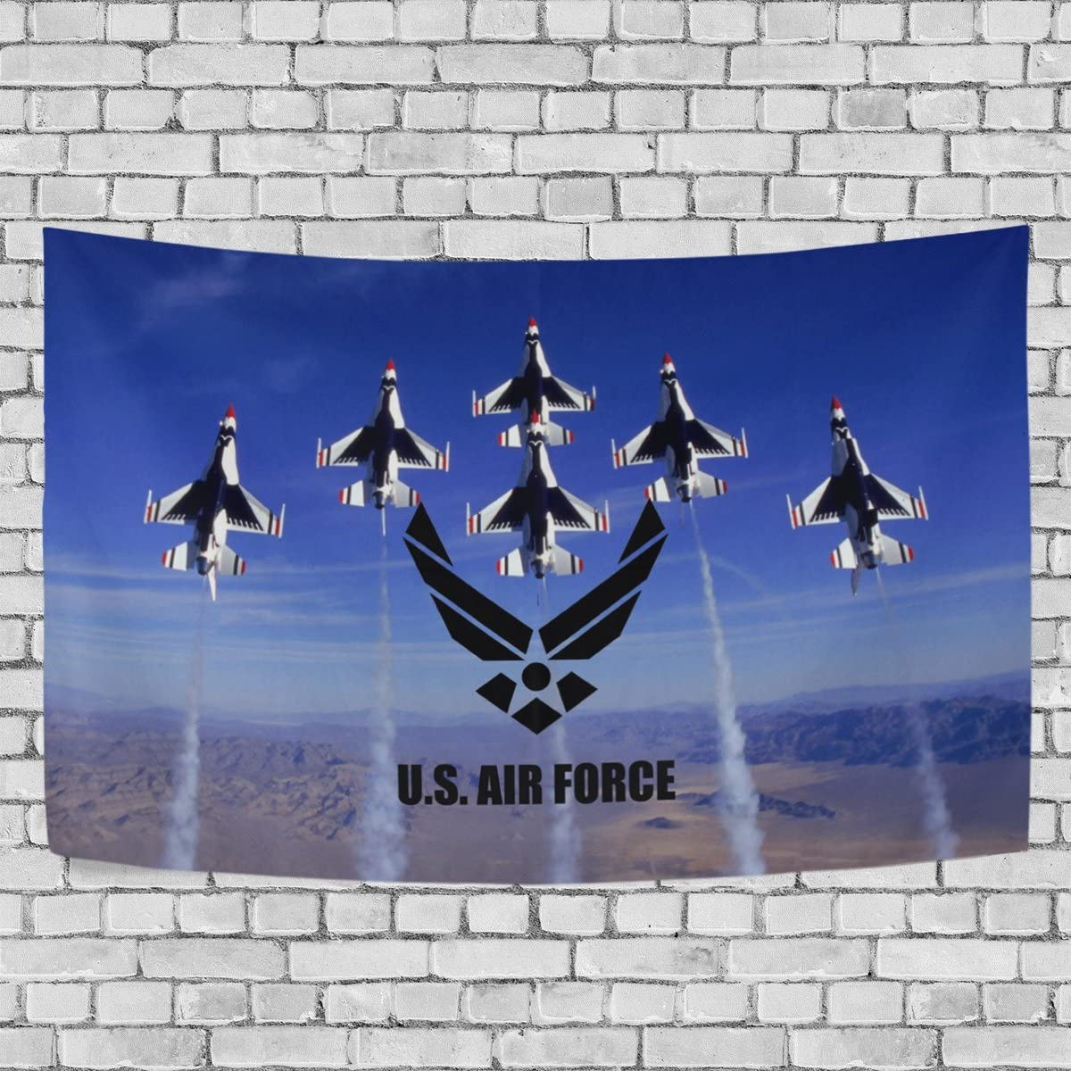 """Donnapink Wall Tapestry US Air Force USAF United States Air Force 60""""X40"""" Wall Hanging Throw Bedspread For Home Livingroom Dorm"""