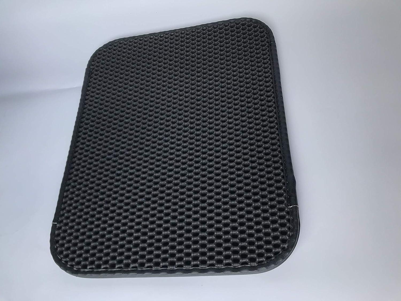 Waterproof Double Honeycomb Design mat Washable cat Litter Tray mat Cat Litter mat cat Litter mat hygienic Hero 37 * 58cm Black