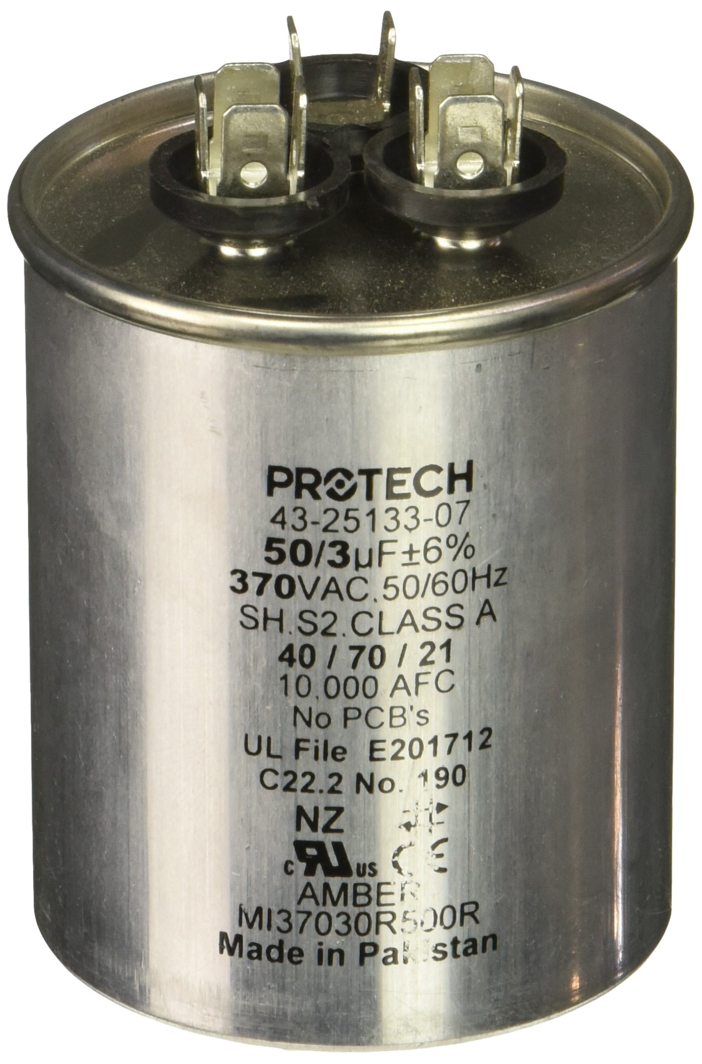Protech 662766275353 50/3/370 Dual Round Capacitor