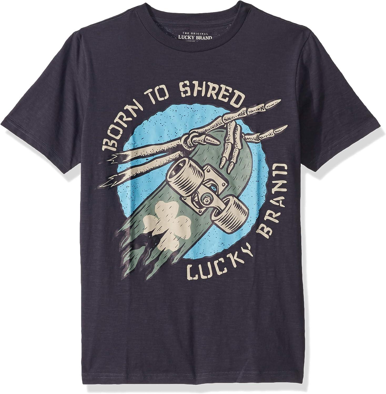 Lucky Brand Boys Short Sleeve Solid Raglan Tee Shirt