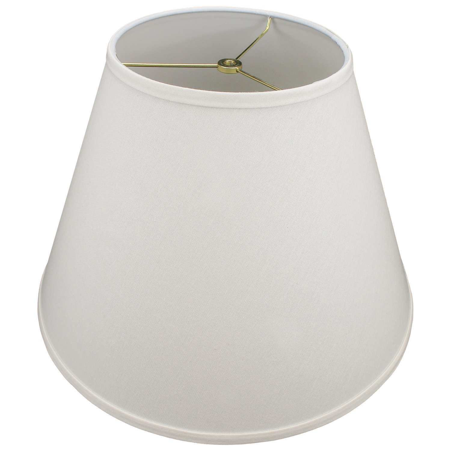 FenchelShades.com 9'' Top Diameter x 18'' Bottom Diameter 13'' Slant Height Lampshade USA Made (Cream)