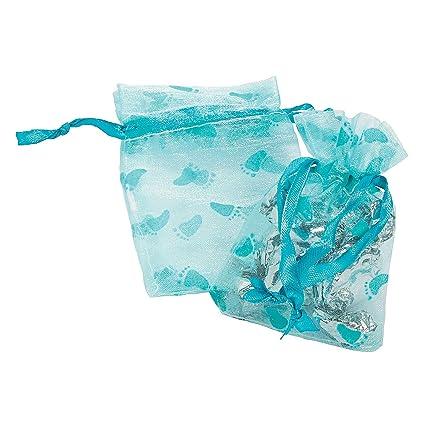 Amazon.com: 24 ct – Boy Baby Shower bolsas de organza, color ...