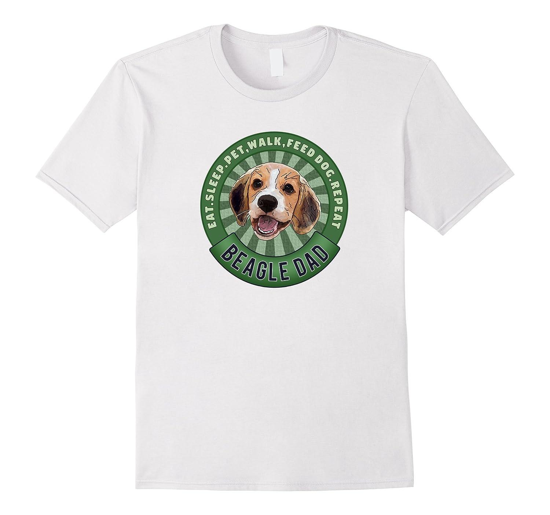 Beagle Dad Eat Sleep Dog Repeat TShirt