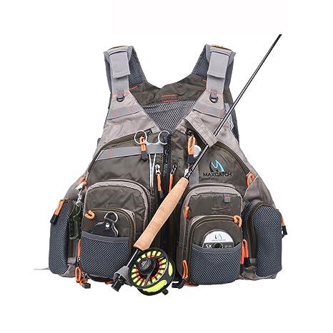 Maxcatch Fly Gilet da pesca (Gilet da pesca   Zaino da pesca   Imbracatura  da 518073796a2