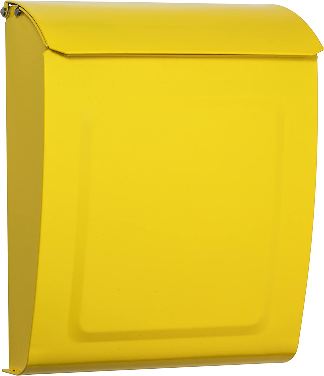 Architectural Mailboxes 2594Y Aspen Wall Mount Mailbox, Small, Yellow