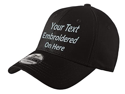 50bbe418 Custom Embroidered New Era 39Thirty Cap. Your Own Text. Curved Bill (S/