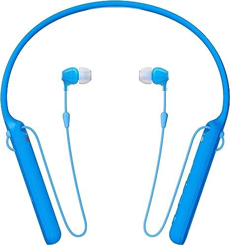 Colore Blu Bluetooth Batteria Fino A 20 Ore con Microfono Integrato Neck-Band Sony WIC400 Cuffie In-Ear Stereo
