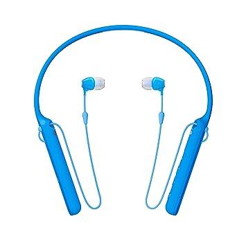 Sony WIC400 - Auriculares Neckband inalámbricos (Cable retráctil, Bluetooth, vibración Llamadas, NFC, 20 Horas de autonomía) Azul: Sony: Amazon.es: ...