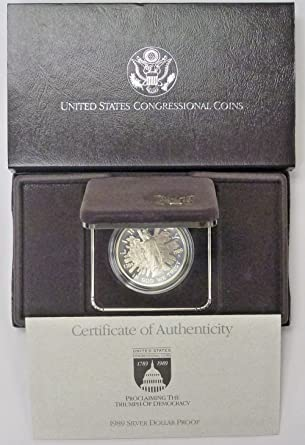 1989-S $1 Congressional Commemorative Silver Dollar in OGP Proof
