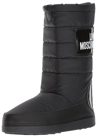 Moschino Mujer Botas de Nieve Negro Size: S (35/36) mOfjzrVBX