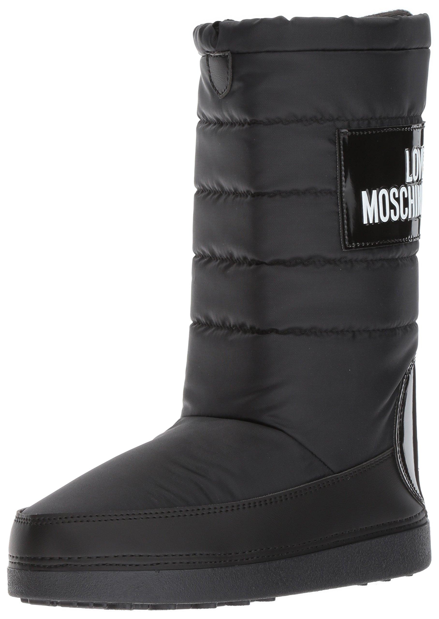 Love Moschino Women's JA24212G04JK100A Fashion Boot, Black, 35-36 M EU (5-6 US)