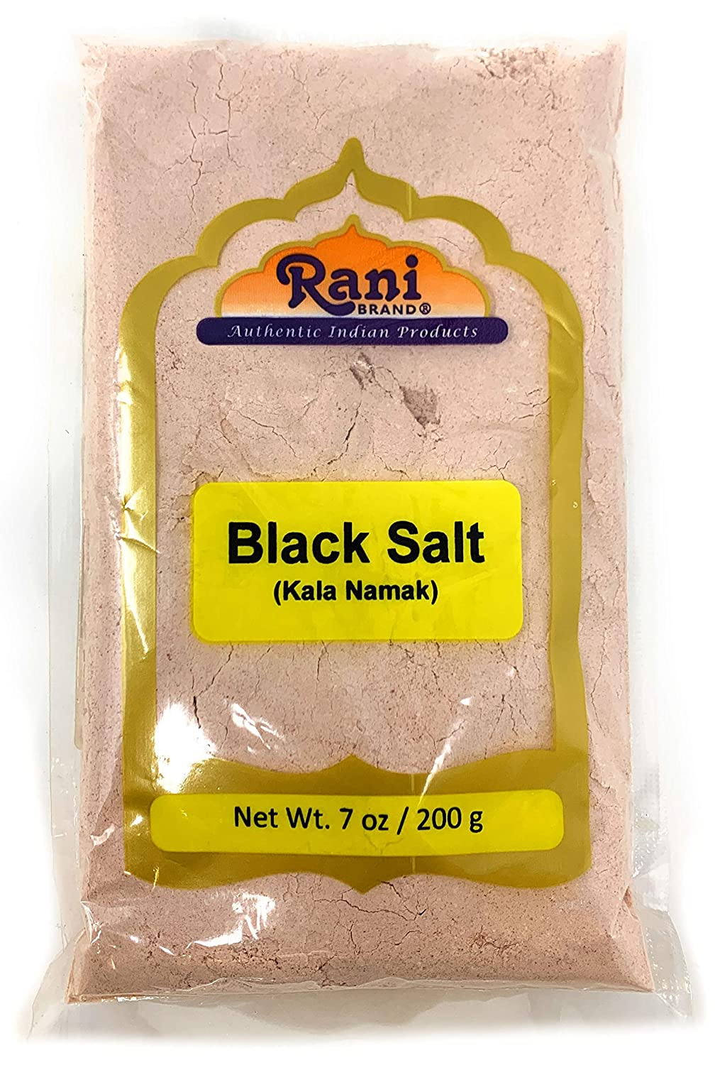 Rani Black Salt (Kala Namak Mineral) Powder, Vegan 200g (7oz) Unrefined, Pure and Natural | Gluten Free Ingredients | NON-GMO | Indian Origin | Perfect for Tofu Scramble - Natural Egg Taste