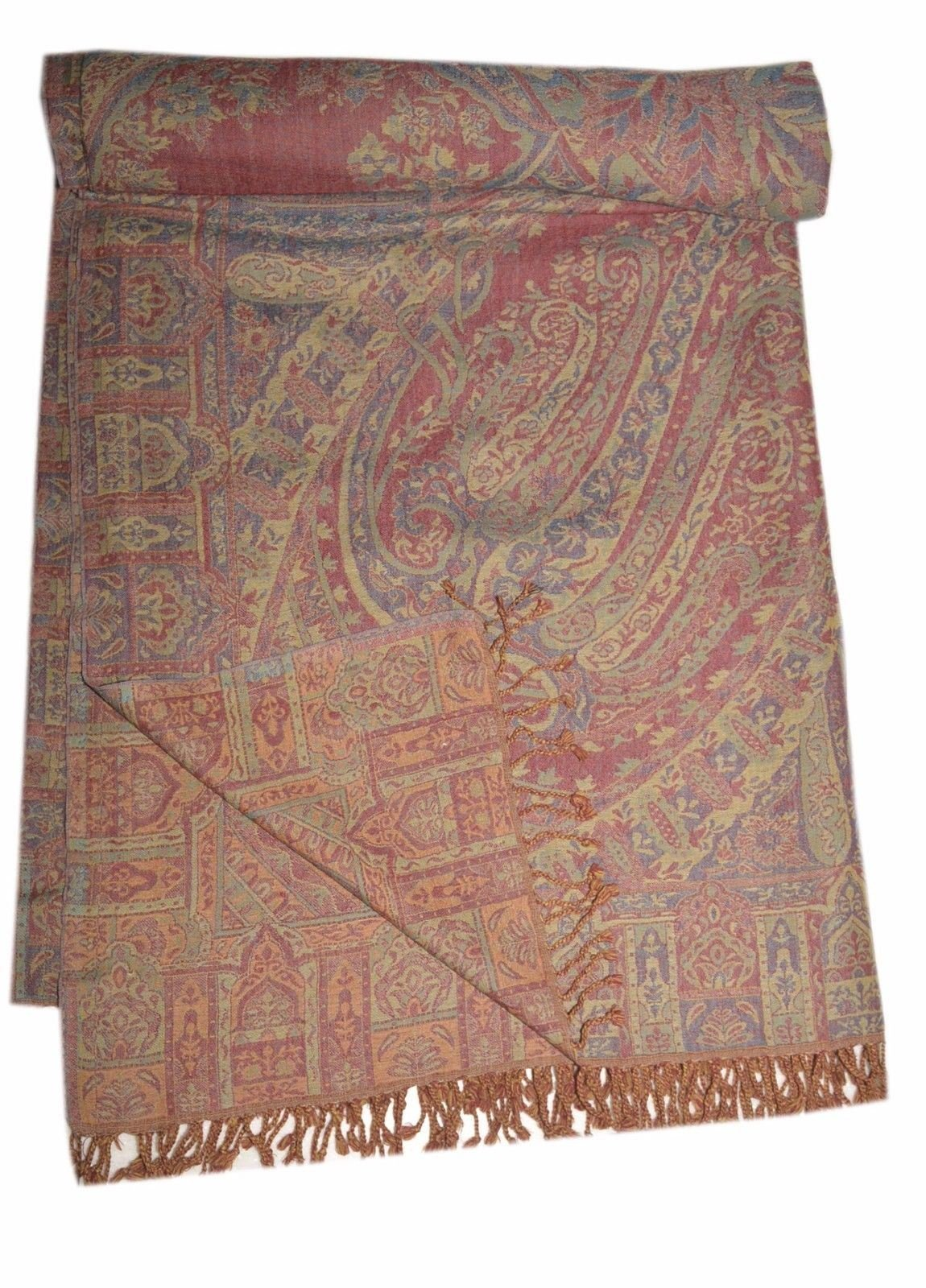 Pashmina Blanket Throw Reversible India Bedding King SL874