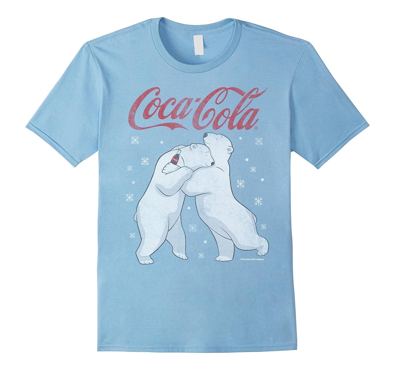 Coca Cola Polar Snowflakes Graphic T Shirt-Teesml