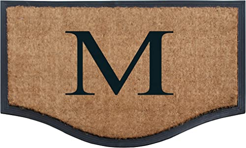 A1 HOME COLLECTIONS A1HCRB5827-Monogrammed A1HC Beige Monogrammed Double Doormat,Heavy Duty,23.6 X37.4 , Stripe Black Border