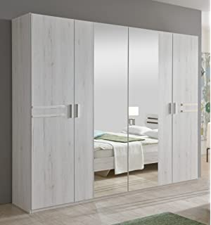 Schreiber Provence 3 Door Mirrored Wardrobe Bla Amazoncouk