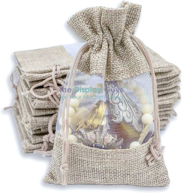 Jewellery Gift Bags 10 Beige Organza Bags Medium Organza Bags 9x 12 cm