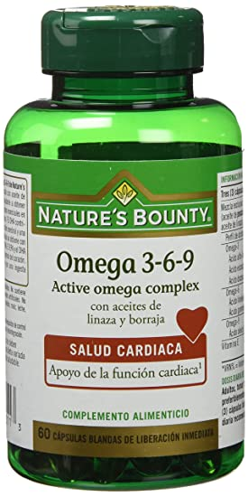 Natures Bounty Omega 3-6-9-60 Cápsulas: Amazon.es: Salud y ...