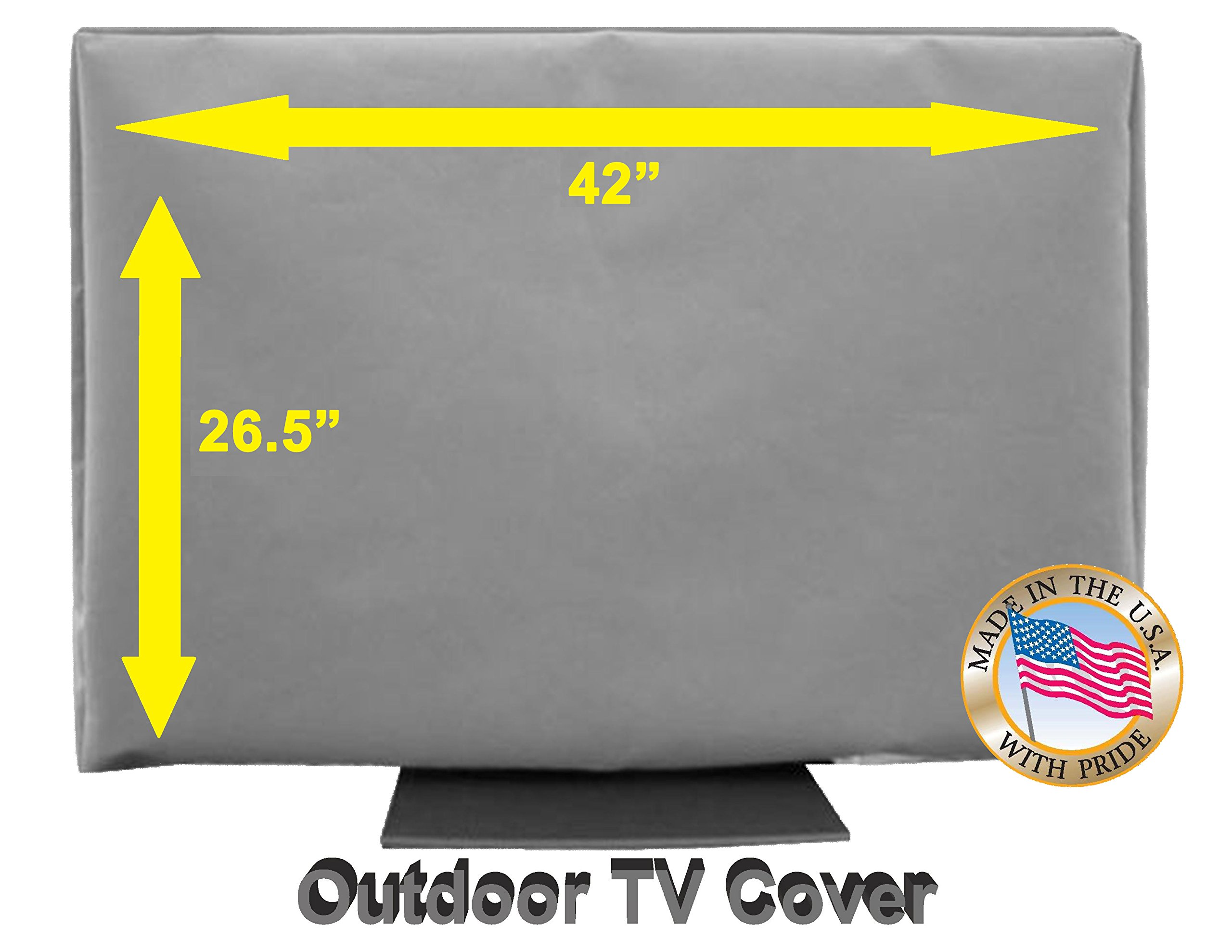 42'' Outdoor TV Cover *Top Premium Quality* Weather Resistant* Soft Non Scratch Interior* Made In USA* (Televisions up to 46'')