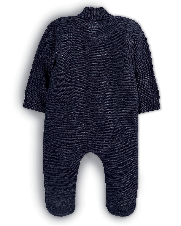 Mamas /& Papas Knitted Pramsuit Combinaison de Neige 3-6 Mois B/éb/é Fille Navy SGT Blue