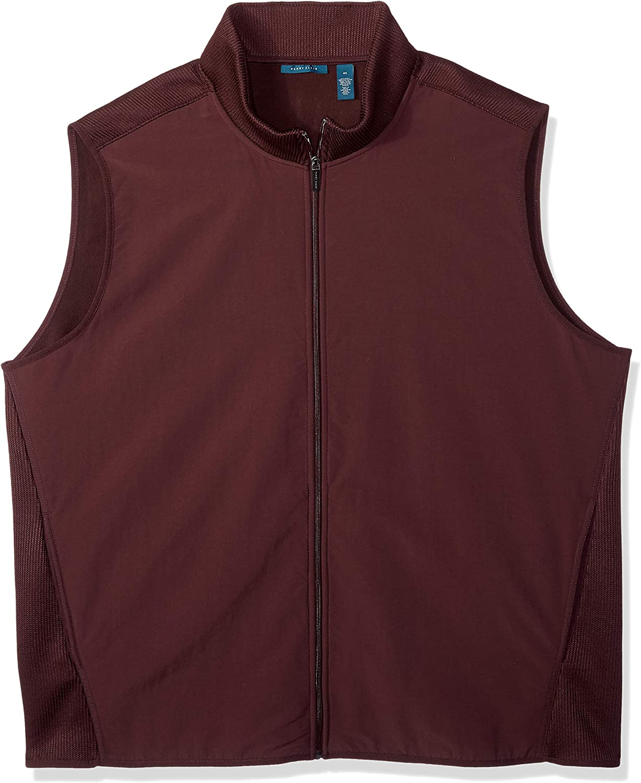Perry Ellis Mens Big and Tall Stretch Fleece Vest 4DFK7649