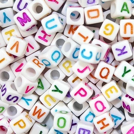 22 opinioni per Goodlucky365 500 pz Perline Lettere Perline Alfabeto in Plastica Acrilica Mista