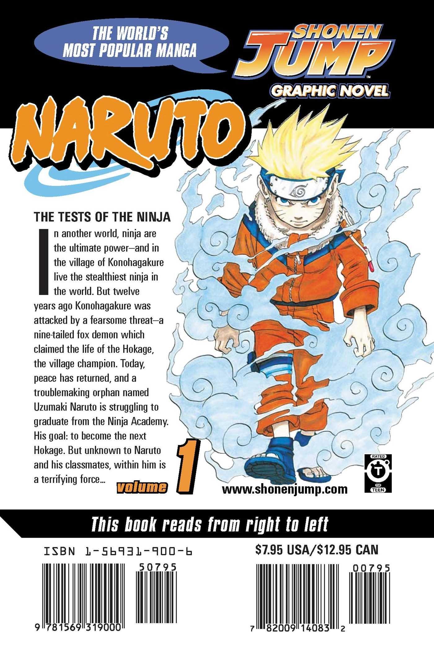 Amazon Naruto Vol 1 Uzumaki 9781569319000 Masashi Kishimoto Books