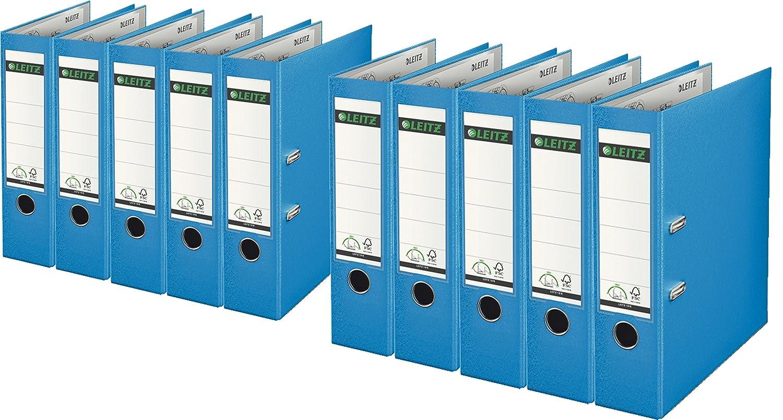 LEITZ PLASTICA RACCOGLITORE qualità 180 ° - Nero, A4 breit| 5er Pack 101050/00/05