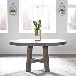 Liberty Furniture Industries Modern Farmhouse Round Table Set, Dusty Charcoal